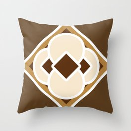 Smore and Dark Hot Chocolate Throw Pillow