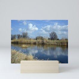 River Meadow Landscape Mini Art Print
