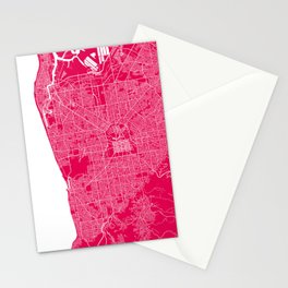 Adelaide map rapsberry Stationery Cards