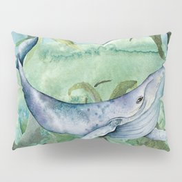 Watercolor Under Sea Collection: Whale Pillow Sham