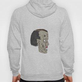 Zombie Head Side Drawing Hoody
