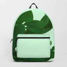 Cactus On Cyan Background Backpack