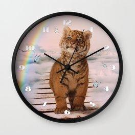 A tiger on the Rainbow Bridge Wall Clock