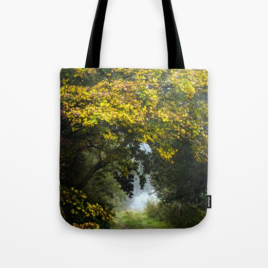 An Autumn  Lane Tote Bag