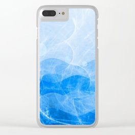 Energy Waves - Blue Version Clear iPhone Case