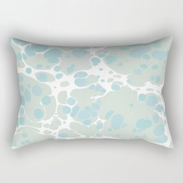 Soft Pastel turquoise and mint green spilled paint bubbles effect Rectangular Pillow