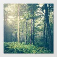 green Canvas Prints featuring Inner Peace by Olivia Joy StClaire
