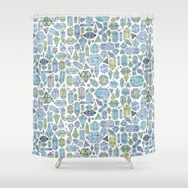 Magical Crystals - Illustration Pattern Shower Curtain
