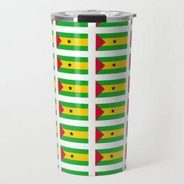 Flag of São Tomé and Príncipe -Sao tome,principe,São Toméan, Sao Tomean, Santomean,são-tomense Travel Mug