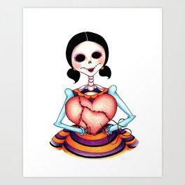 Dia de los Muertos: Stitch by Stitch Art Print