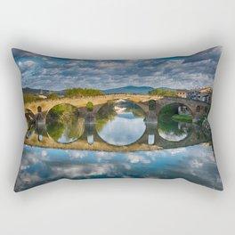 Bridge of Reflections Rectangular Pillow