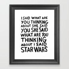 Obi Wan on the mind Framed Art Print
