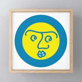 Colored Wondering Face in the Circle Framed Mini Art Print