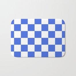 Checkered - White and Royal Blue Bath Mat