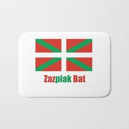 Flag of Euskal Herria 6 -Basque,Pays basque,Vasconia,pais vasco,Bayonne,Dax,Navarre,Bilbao,Pelote,sp Bath Mat