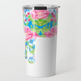 I Love Goats Floral Goat Travel Mug