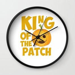 King of the Patch Pumpkin Halloween Graphic T-Shirt Wall Clock