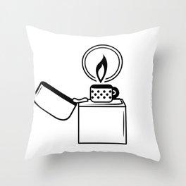 Lighter Black on White Throw Pillow