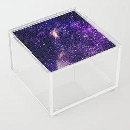 Ultra violet purple abstract galaxy Acrylic Box