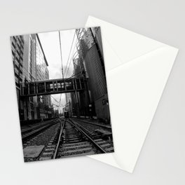 Lynx Blue Line 7th Street Black and White Stationery Cards