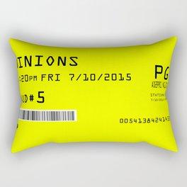 Minion Movie Ticket Rectangular Pillow