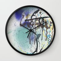 urban Wall Clocks featuring Urban by Ana Guillén Fernández