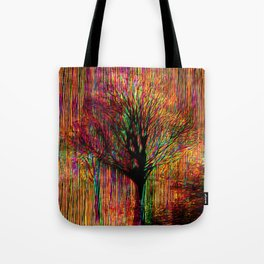 Abstract tree on a colorful background Tote Bag