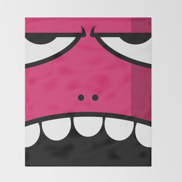 Monsters⁴ : Red Throw Blanket
