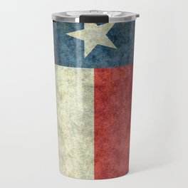 Texas state flag, Vintage banner version Travel Mug