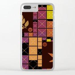 Patchwork. Autumn . Clear iPhone Case
