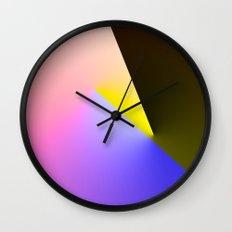 Expressionist Cubes II  Wall Clock