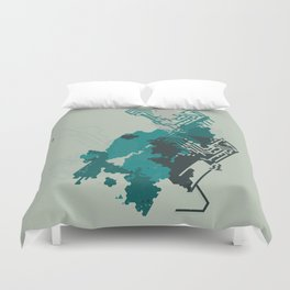 Geometric Mapping #6 • by Secret Peak Duvet Cover
