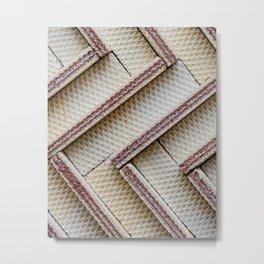 Hazelnut Wafers Metal Print