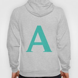 A MONOGRAM (TURQUOISE & WHITE) Hoody