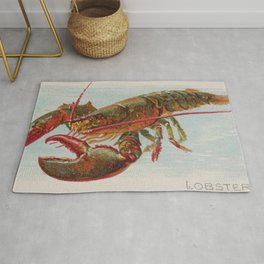 Vintage Illustration of a Lobster (1889) Rug