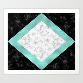 Mint marble Art Print