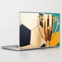 world cup Laptop & iPad Skins featuring world cup trophy by franckreporter