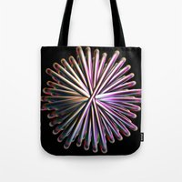 the wire Tote Bags featuring Wire Circle by Brian Raggatt