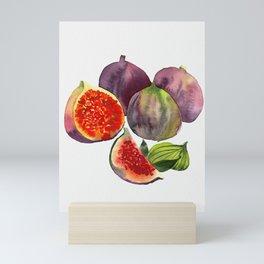 figs watercolor art Mini Art Print