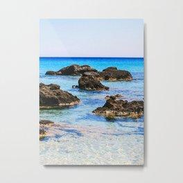Kedrodasos Private Beach Metal Print