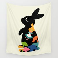 alice wonderland Wall Tapestries featuring Alice by Andy Westface