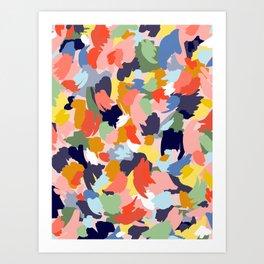 Bright Paint Blobs Art Print