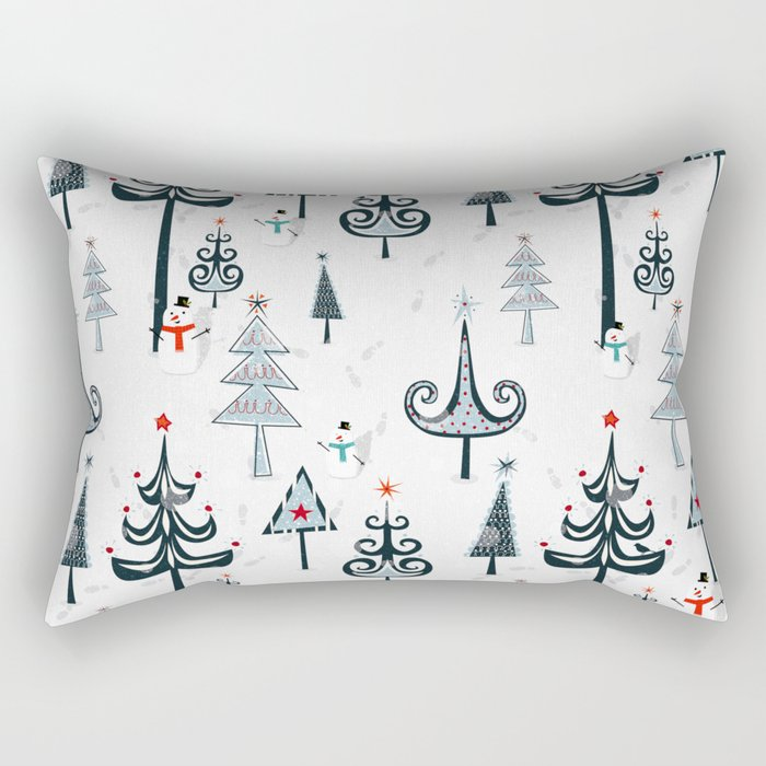 Christmas Tree Forest Rectangular Pillow