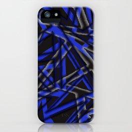 MCM Mangled Angles (Blue) iPhone Case