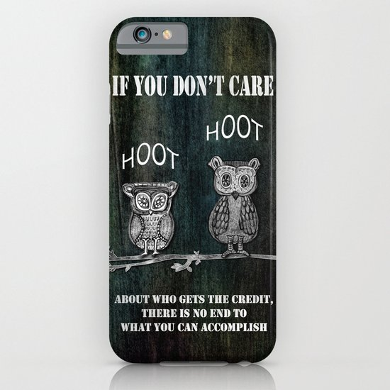 Two Hoots iPhone & iPod Case