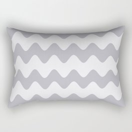 Pantone Lilac Gray Soft Zigzag Rippled Horizontal Line Pattern Rectangular Pillow