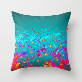 Faerie Garden Vignette | Flower | Flowers | Throw Pillow