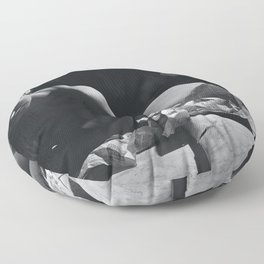 'My Muse, Plan B' female form nude black and white photograph / art photography Floor Pillow