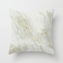 Marble Love Gold Metallic Throw Pillow
