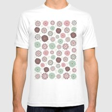 Sweet Mauve MEDIUM White Mens Fitted Tee